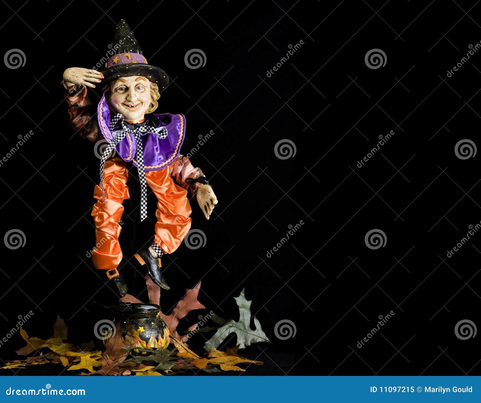 Halloween marionettehäxa