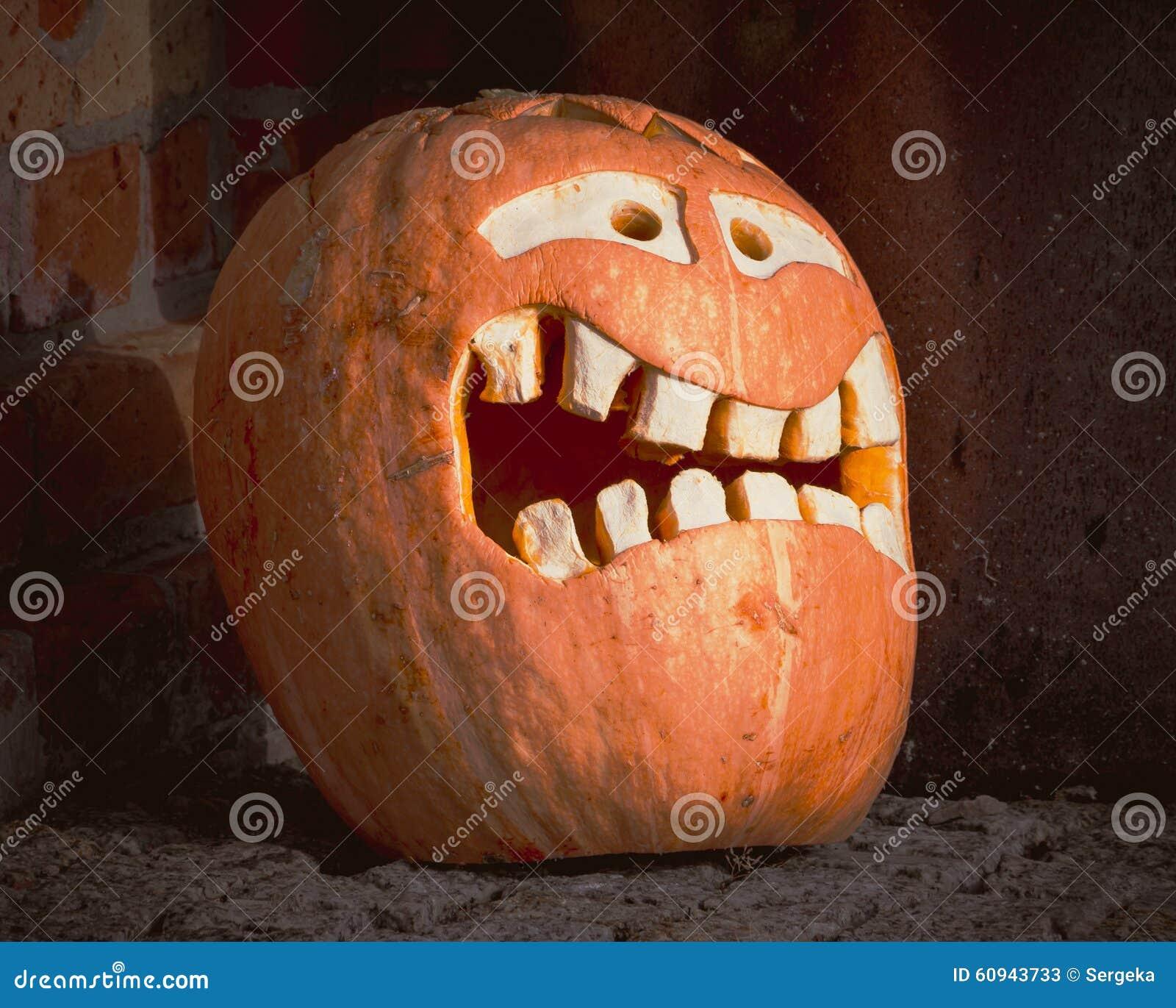 Halloween.The Mask Of Pumpkin Stock Photo - Image: 60943733