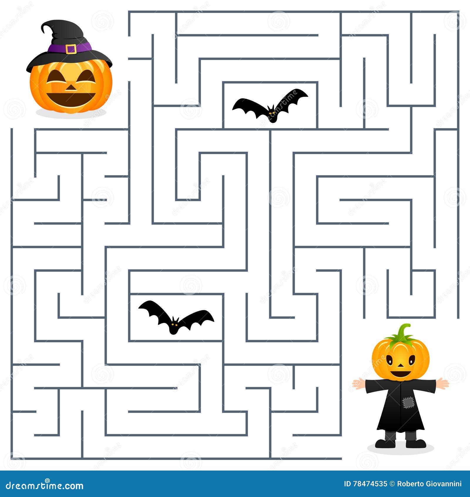 Pumpkin Halloween Horizontal Frame Stock Vector - Image ...