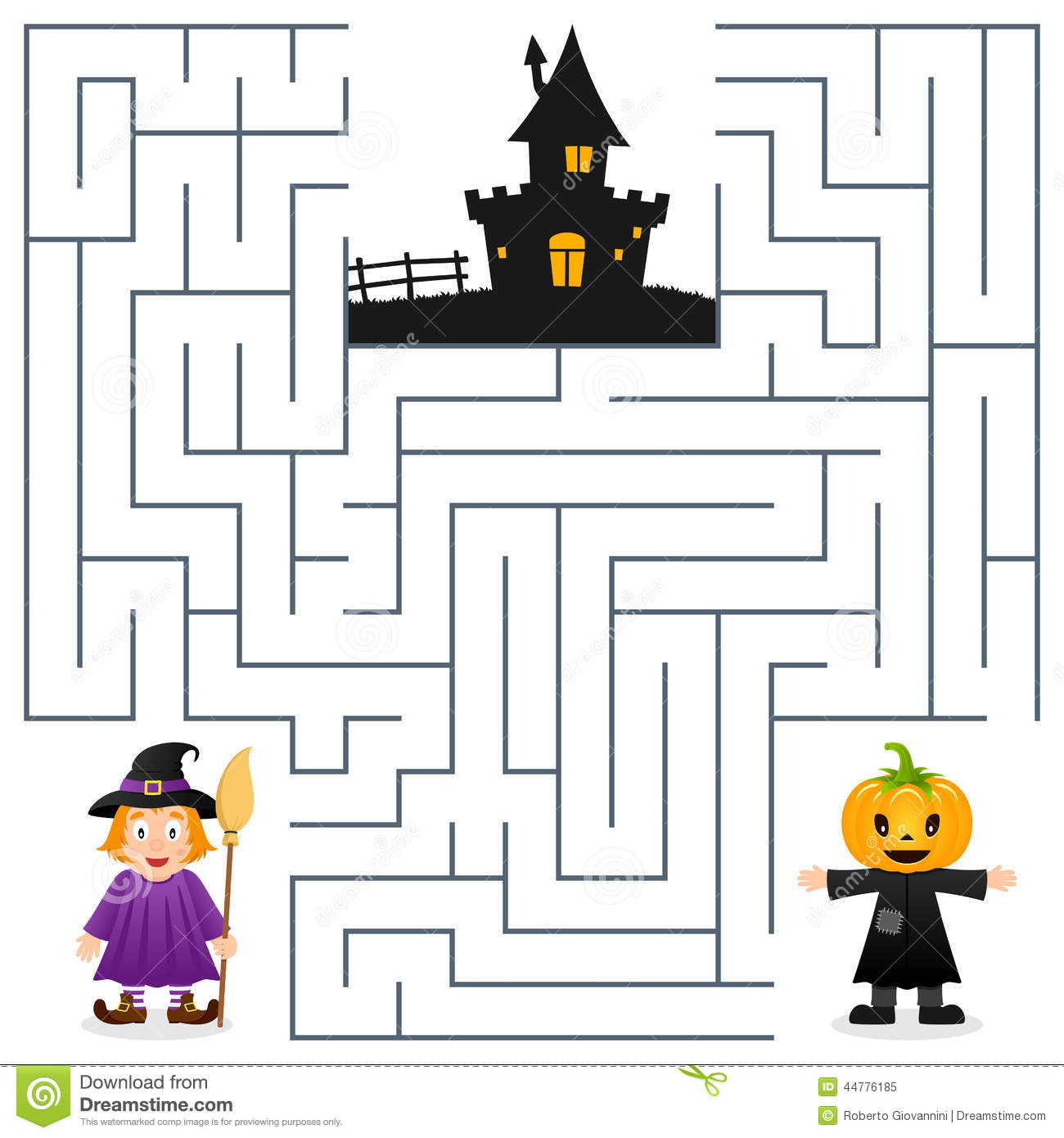 It's just an image of Priceless Halloween Maze Printable