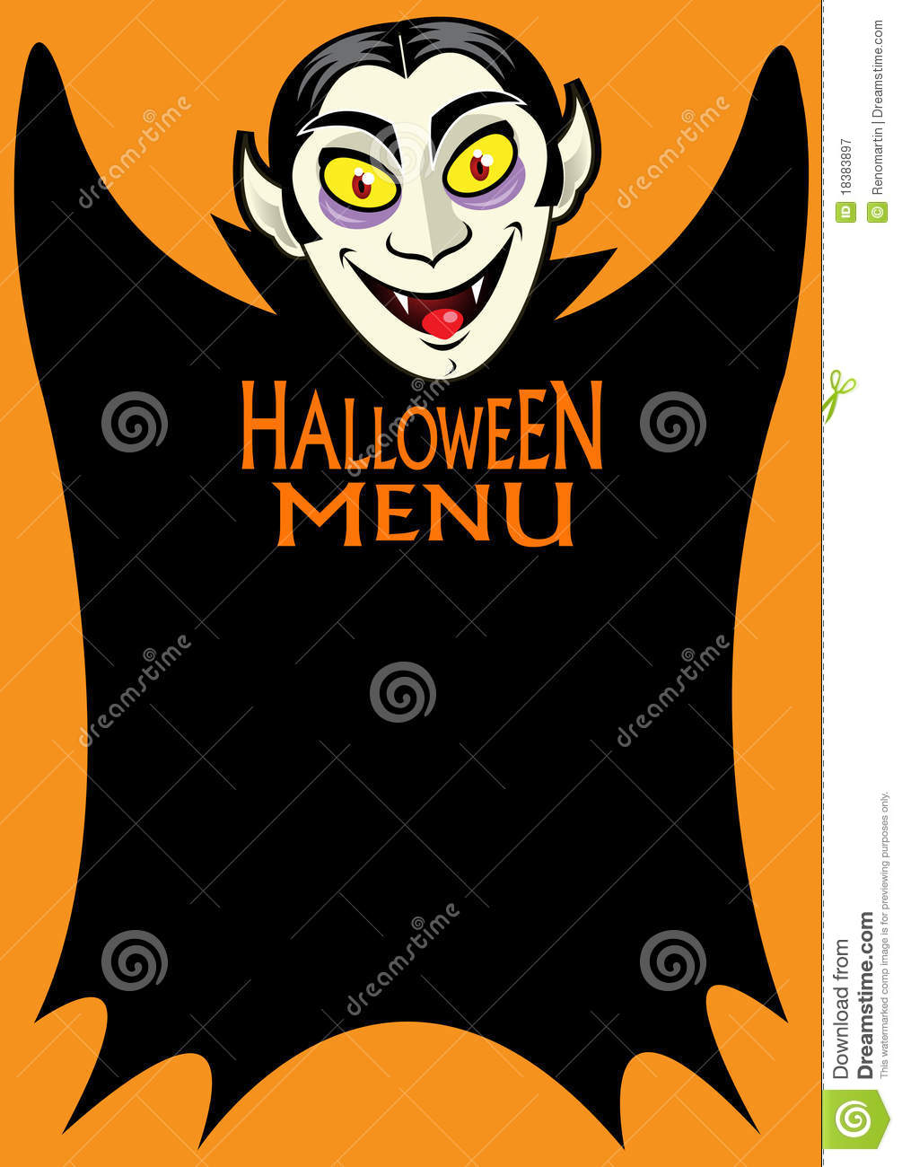 Halloween Menu Royalty Free Stock Photography - Image: 18383897