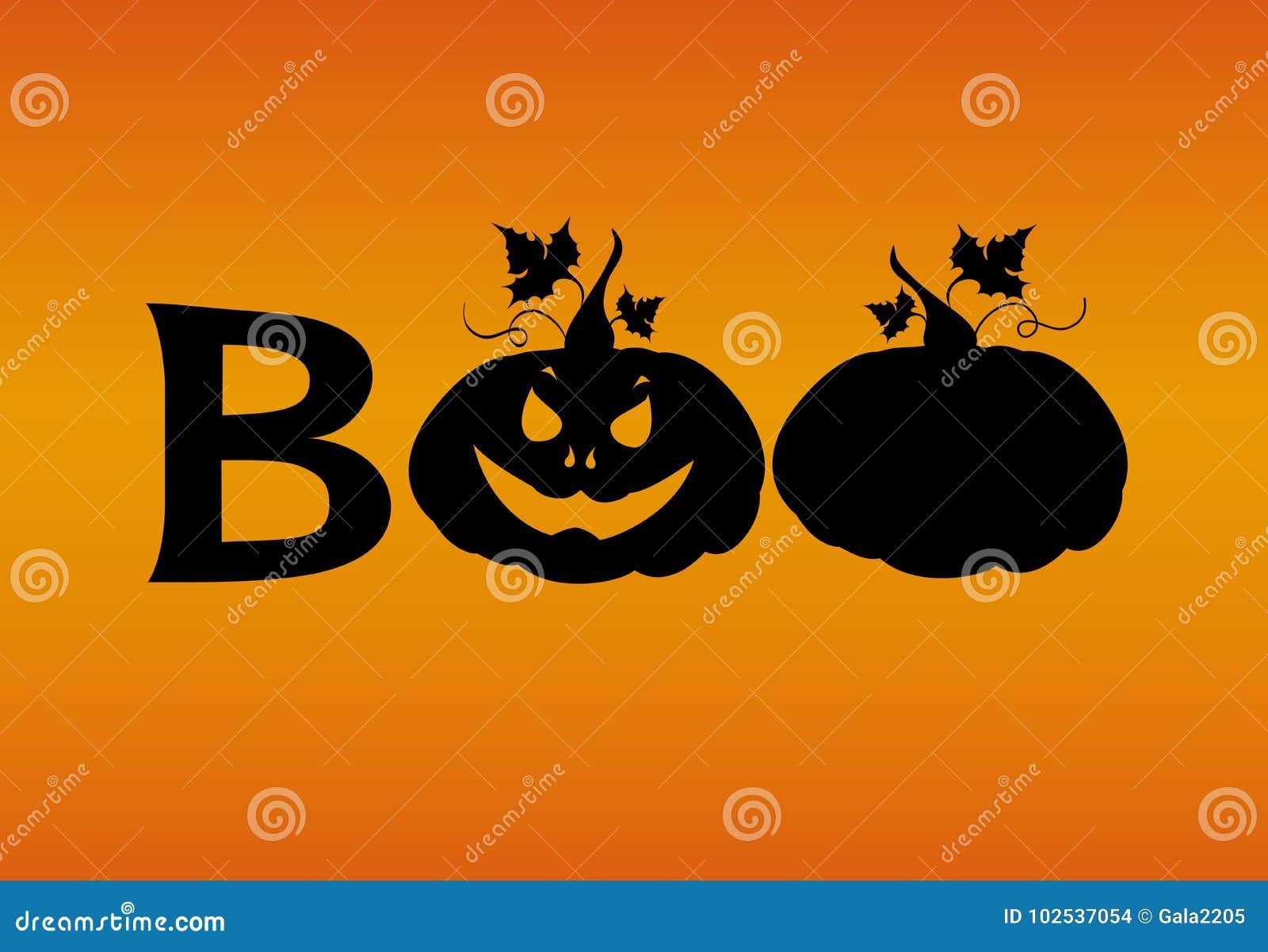 Halloween message boo from pumpkins vector words for invitatio halloween message boo from pumpkins vector words for invitations to a party or greeting card m4hsunfo