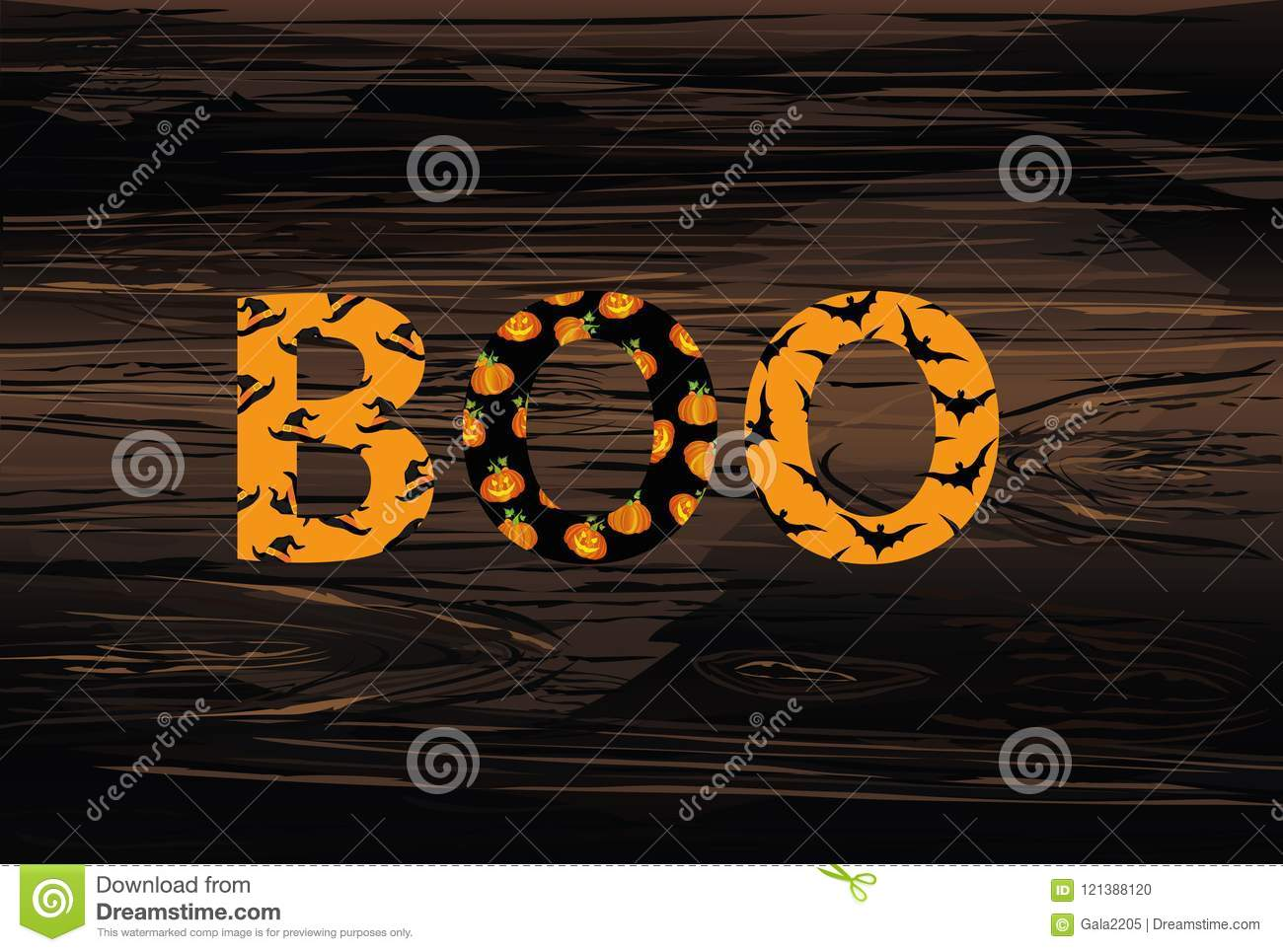 Halloween message boo vector on wooden background words for i halloween message boo vector on wooden background words for i m4hsunfo