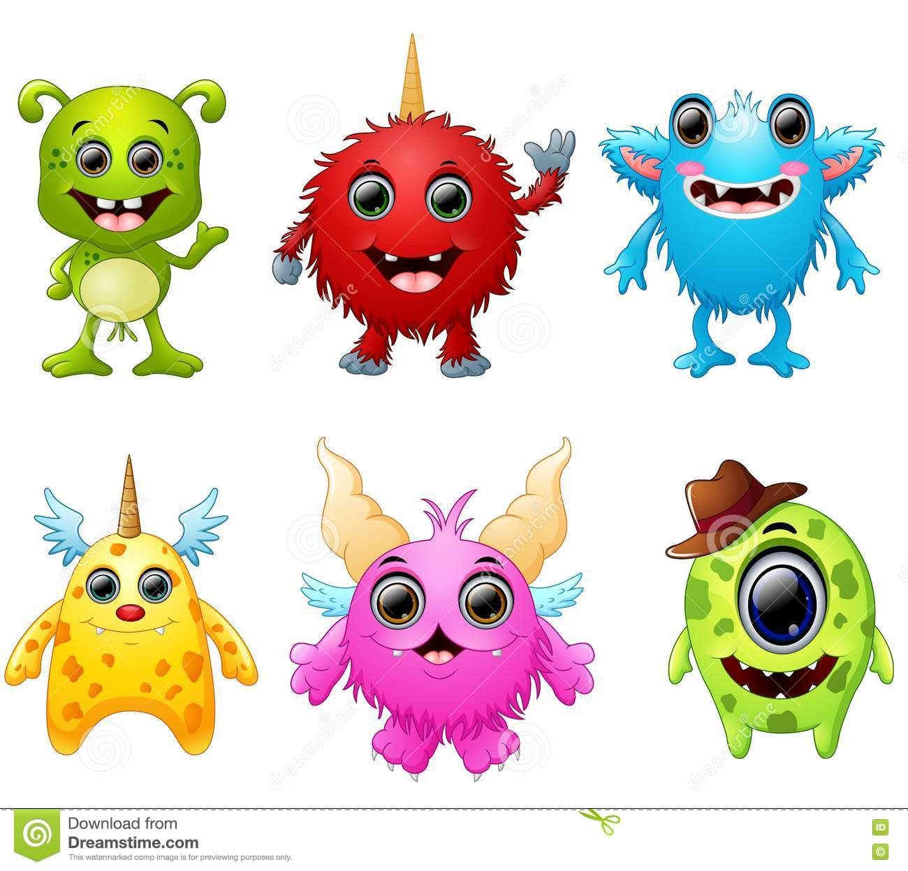 collection of monster ficticious cartoon characters vector eyeball clipart images eyeball clipart black and white