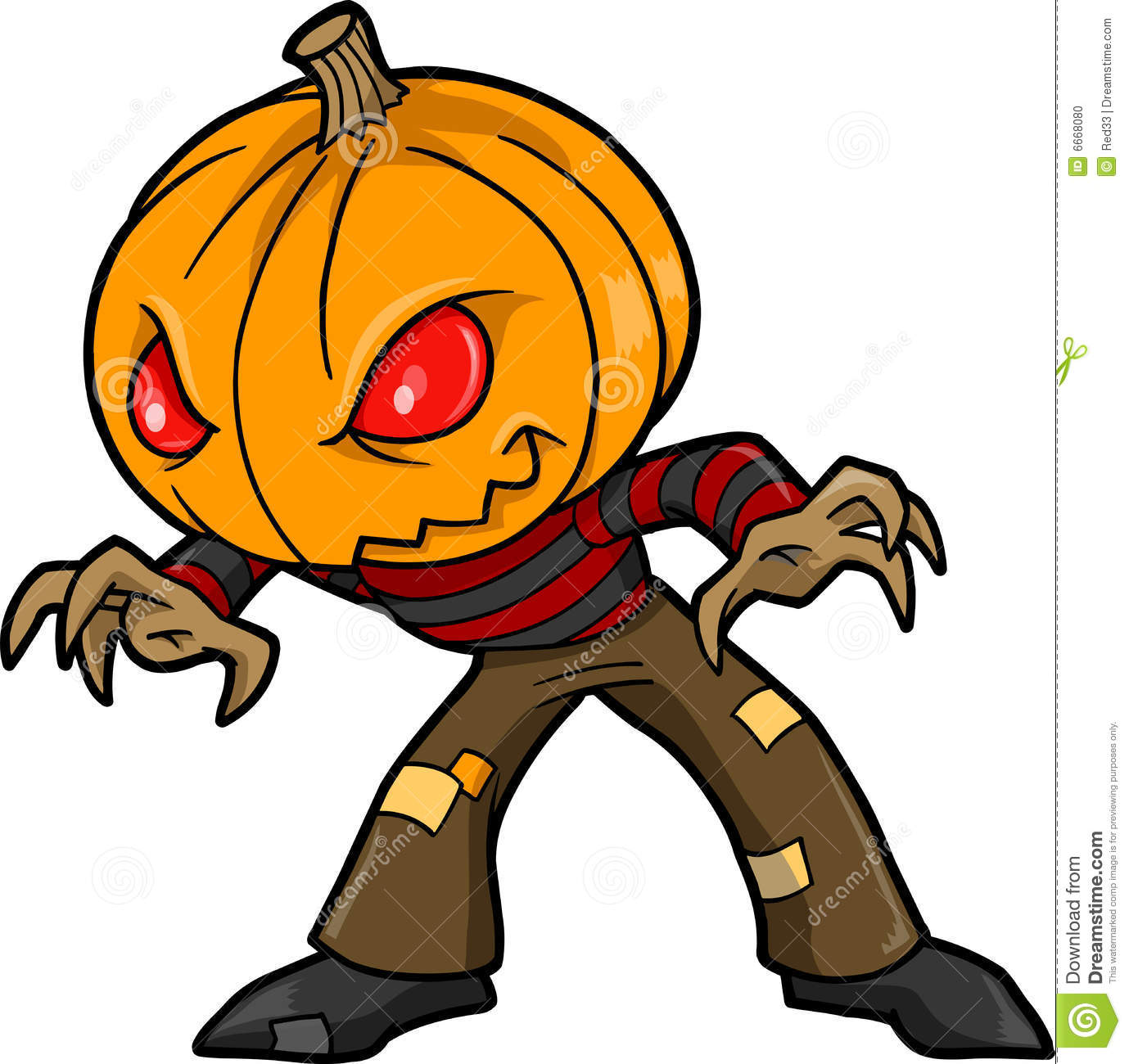 Halloween Monster Vector stock vector. Image of scary - 6668080