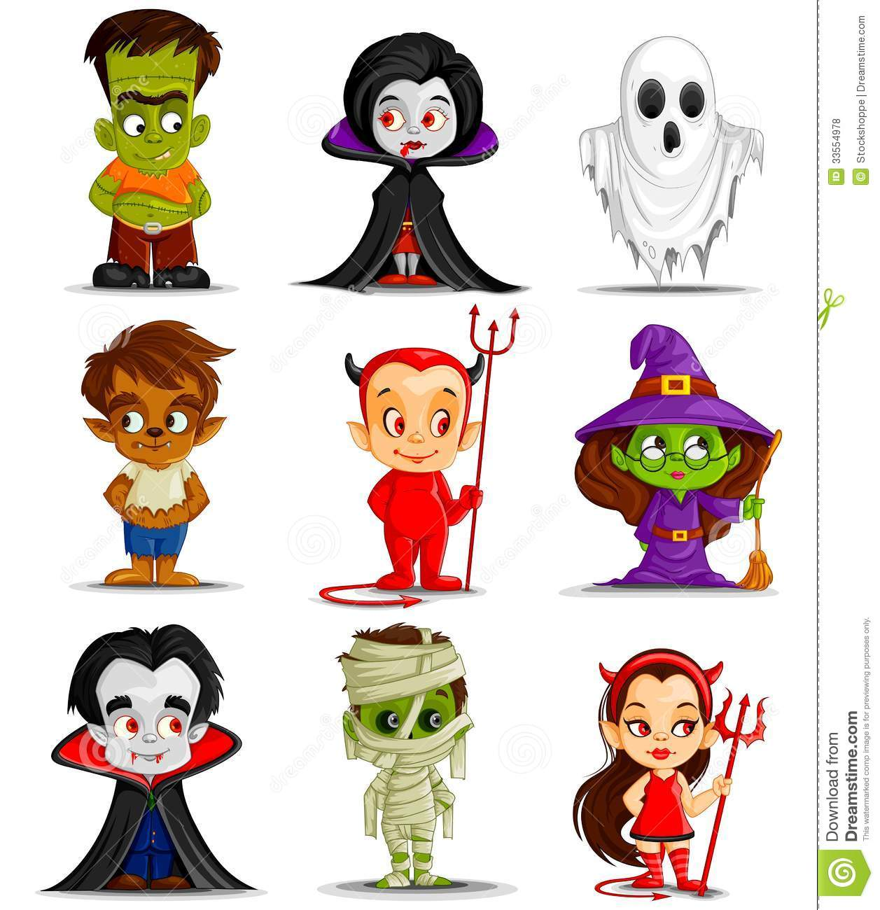 Halloween Monster Royalty Free Stock Photos - Image: 33554978