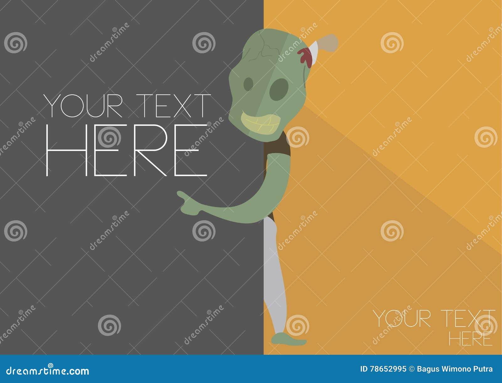 Halloween Monster Zombie Invitation Card Stock Illustration