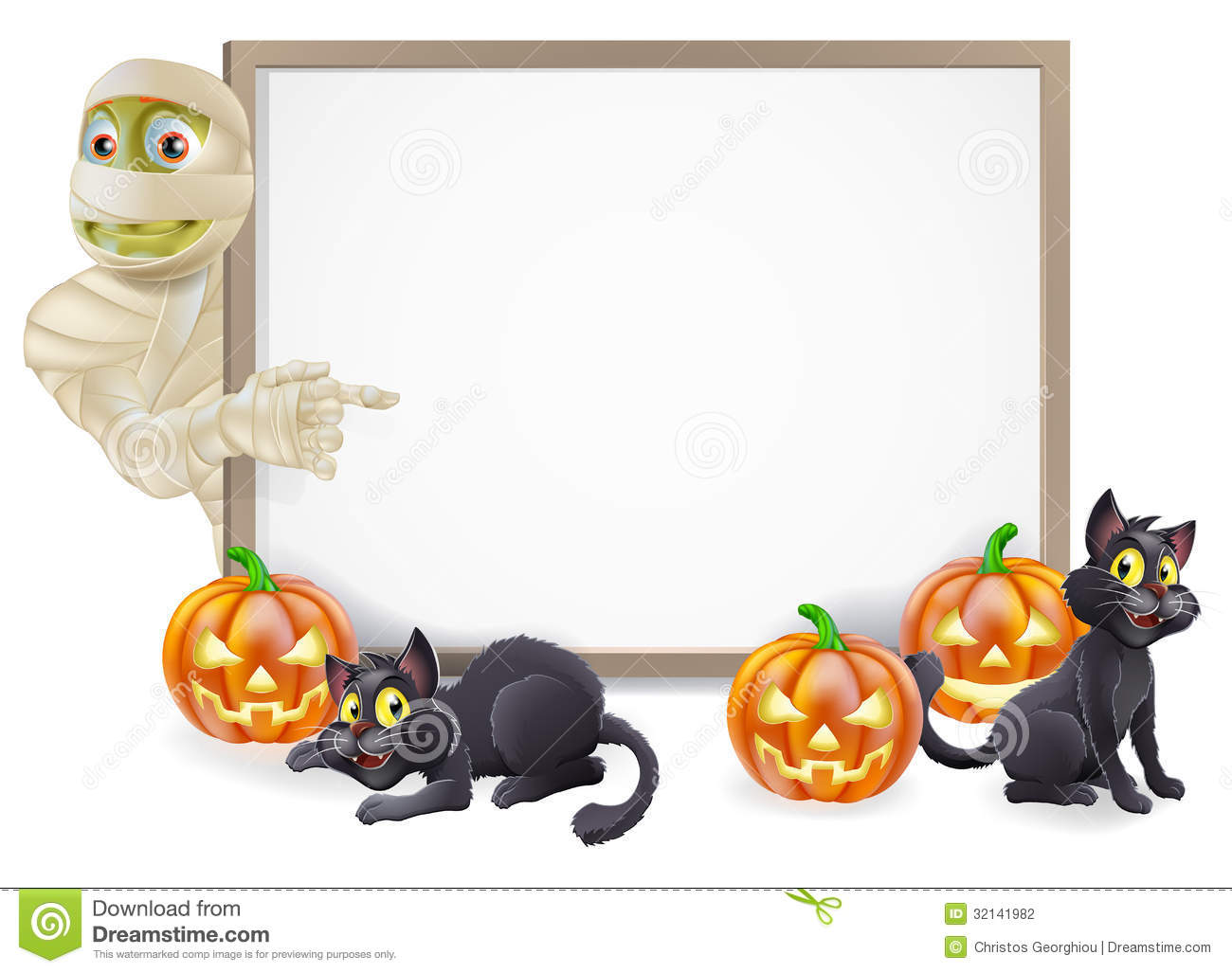 halloween mummy sign stock photography image 32141982