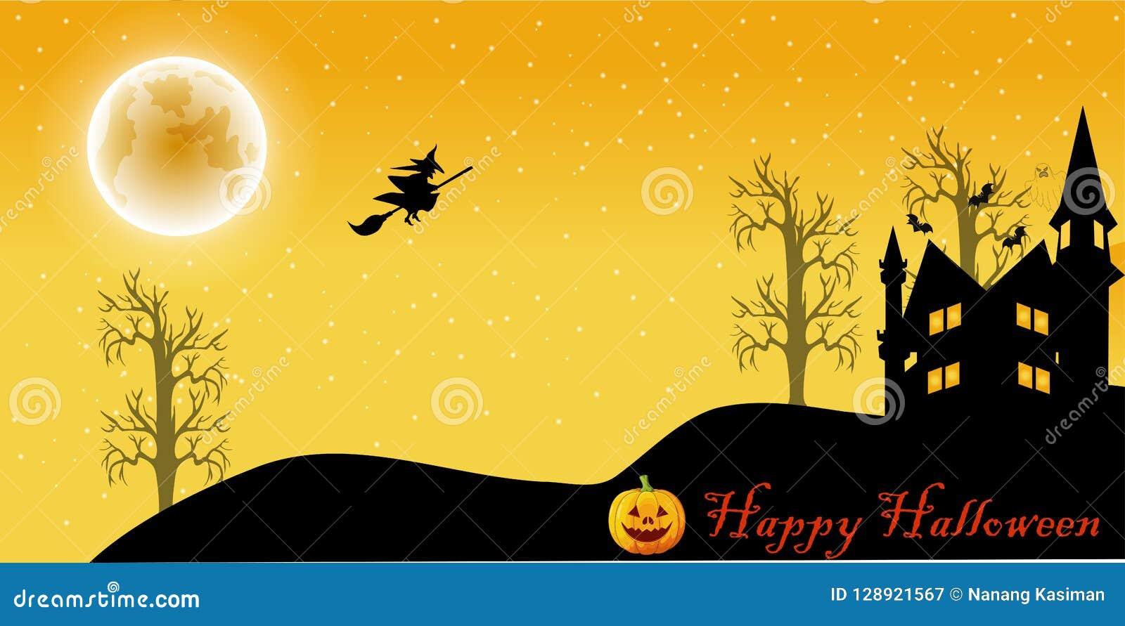 Halloween-nachtbeeldverhaal