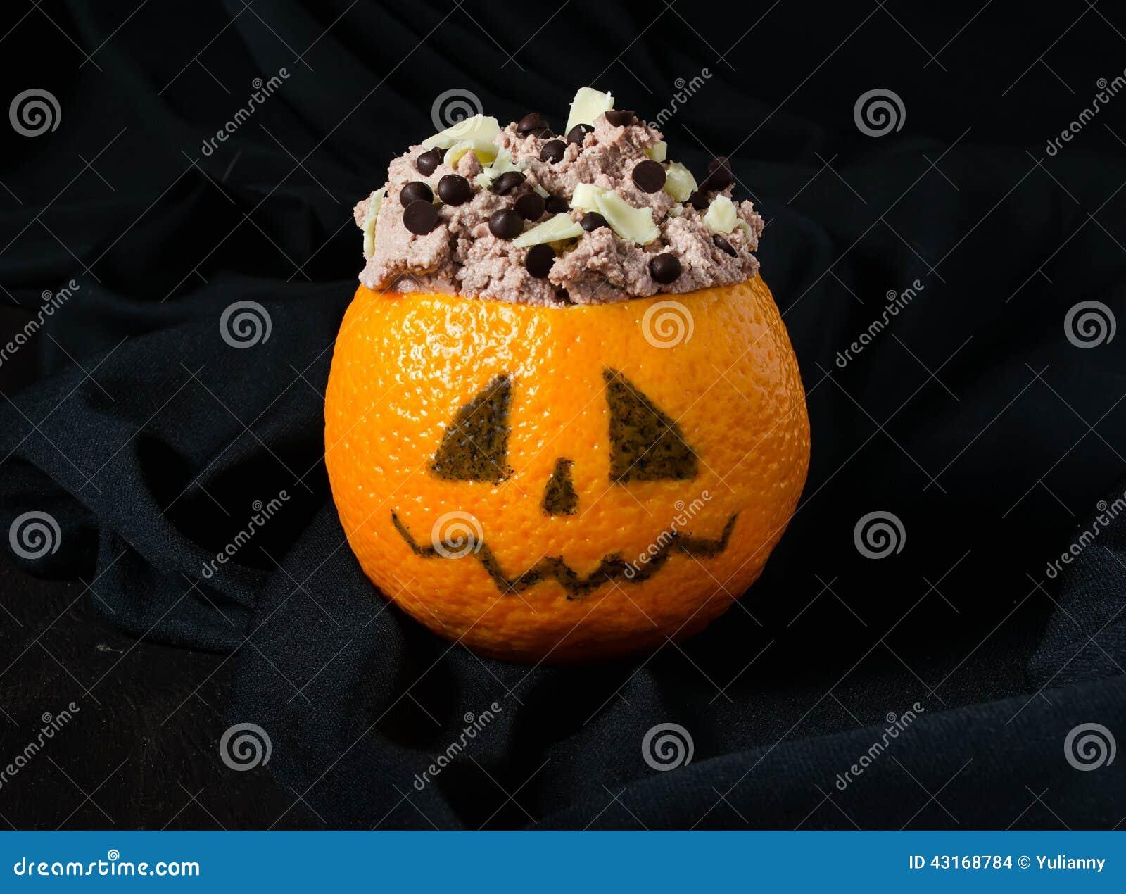 halloween nachtisch f r kinderparty stockfoto bild 43168784. Black Bedroom Furniture Sets. Home Design Ideas