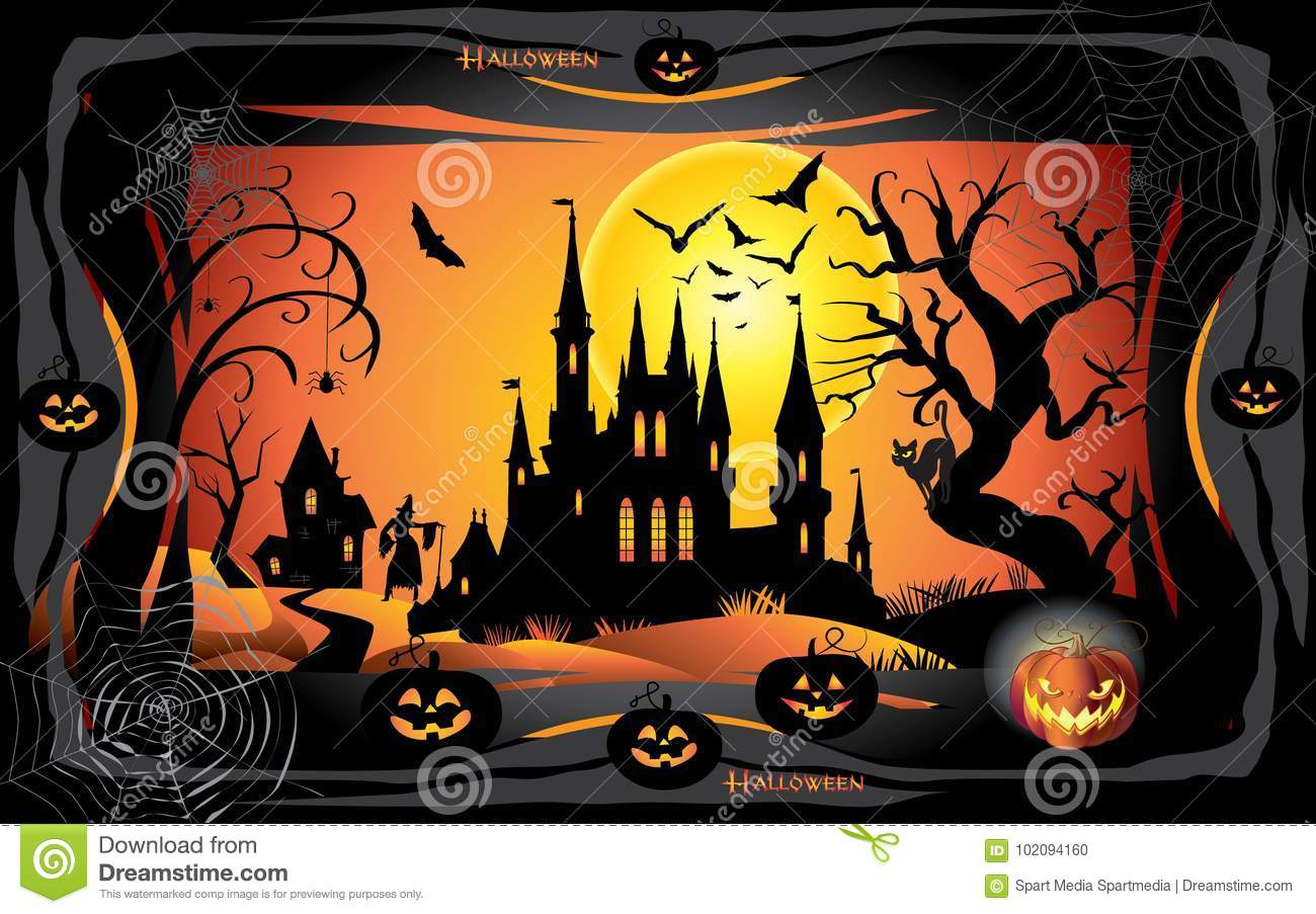 Halloween 2019.Halloween 2019 Stock Vector Illustration Of Decoration 102094160