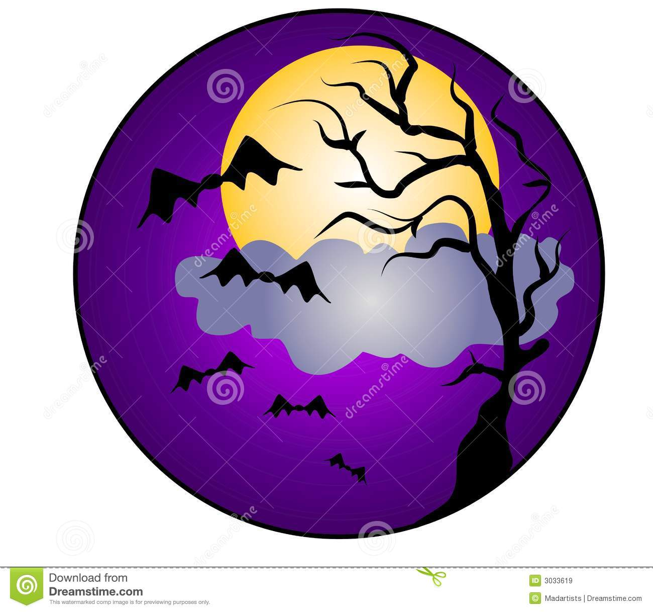 Halloween Moon Clip Art Halloween night bats clip art