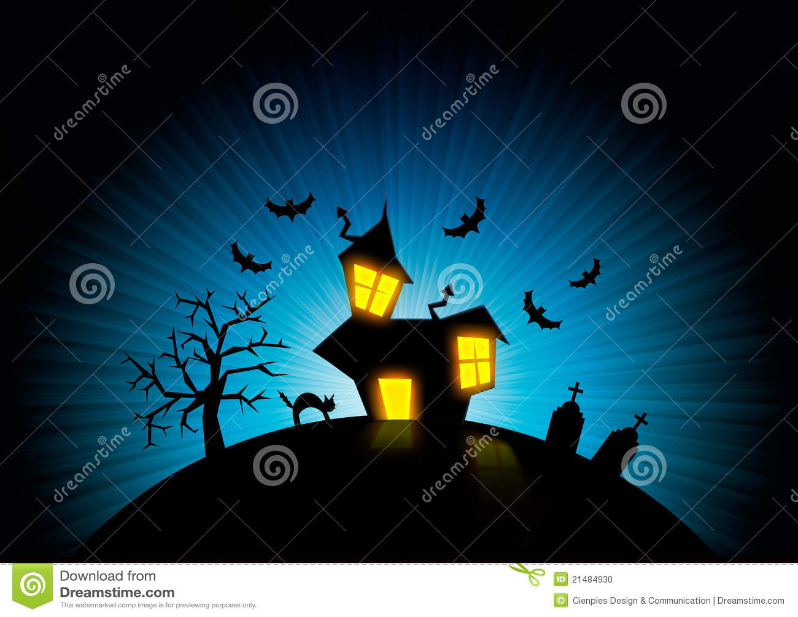 background cat halloween house night nightmare - Halloween Nightmare