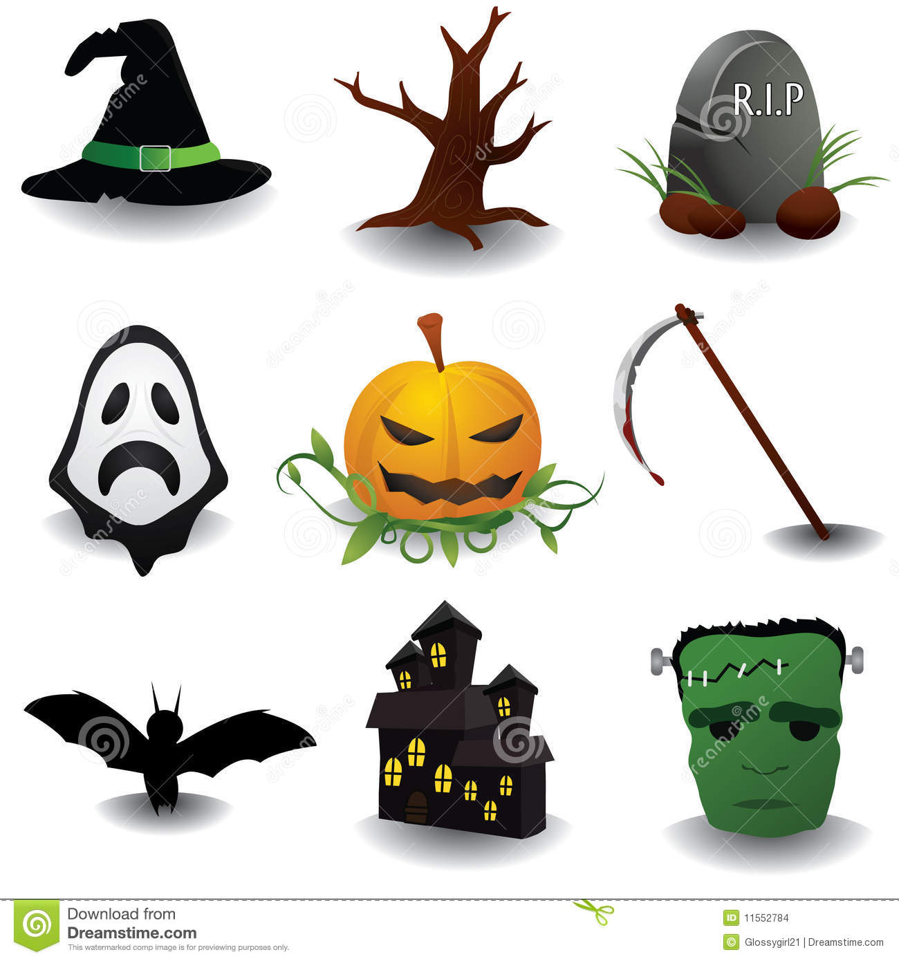 Oggetti Di Halloween.Halloween Objects Stock Illustration Illustration Of Reaper 11552784