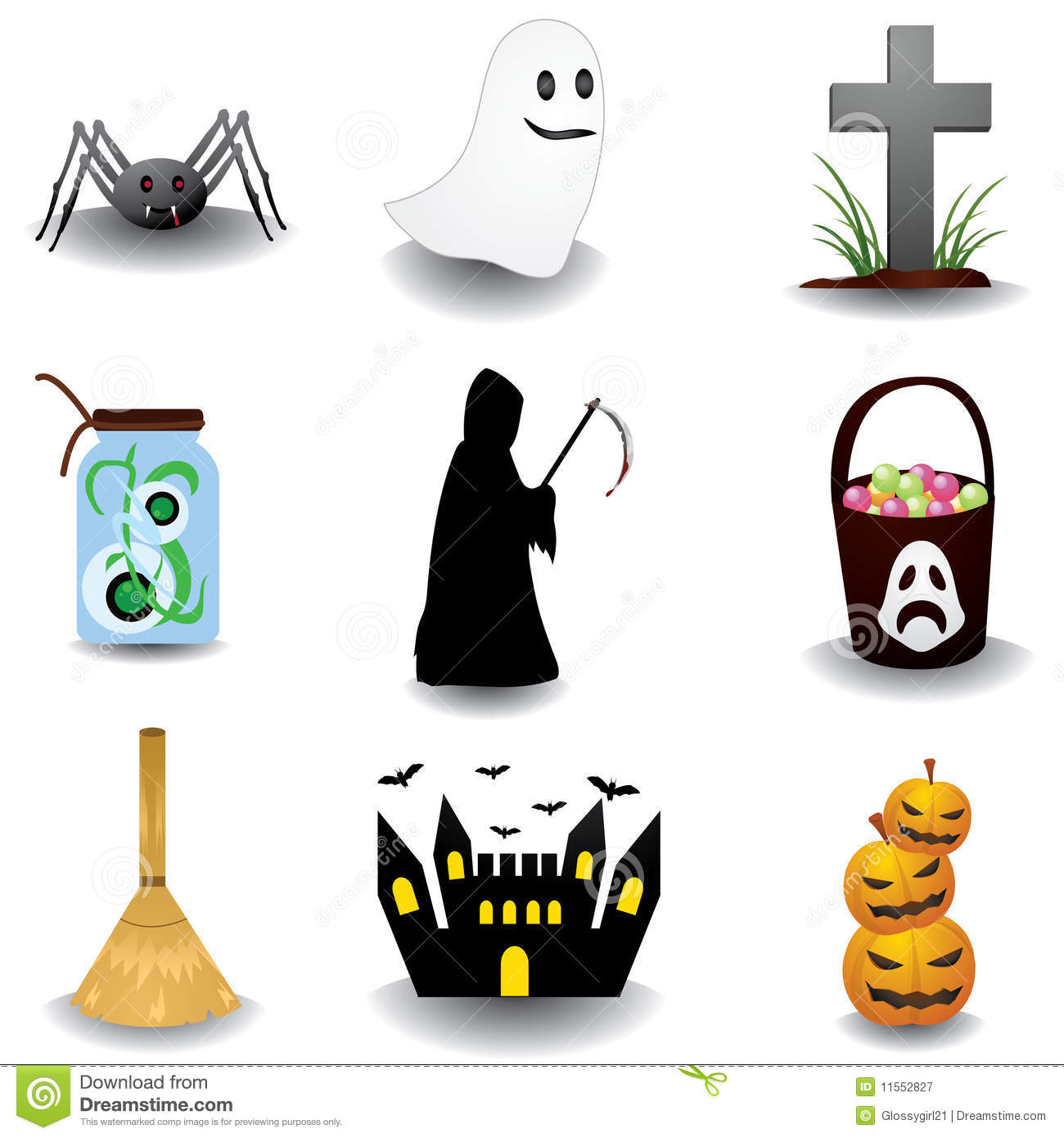 Oggetti Di Halloween.Halloween Objects Stock Vector Illustration Of Create 11552827