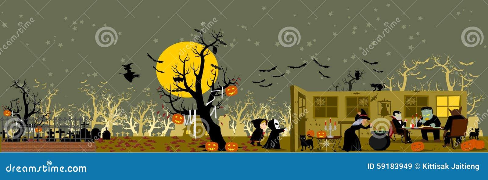 Halloween od tła blasku księżyca uwagi