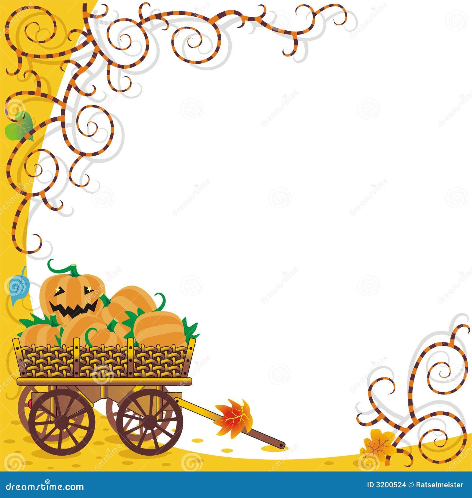 Halloween-oder Herbsthintergrund