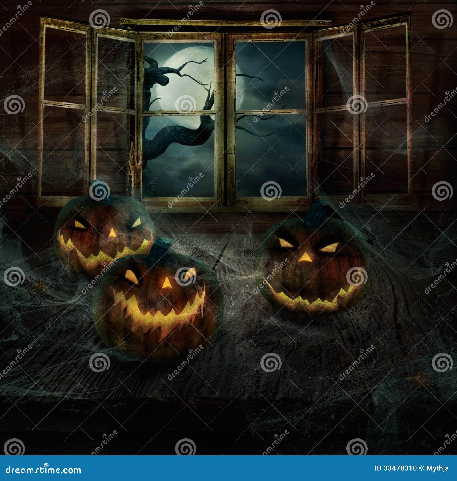 Halloween-Ontwerp - Verlaten pompoenen