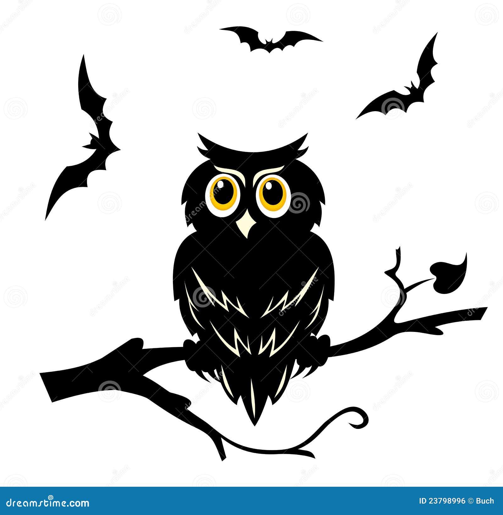Рисунок силуэта совы