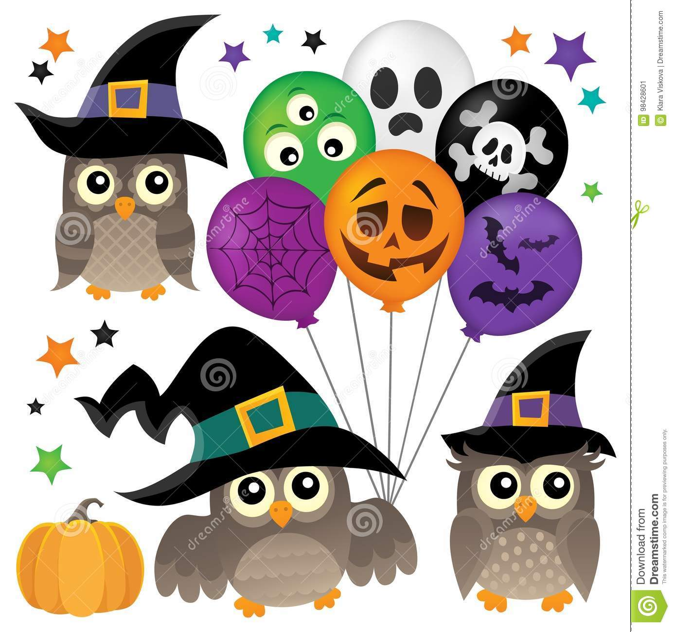 100 cute young witch for halloween cards vector clip art