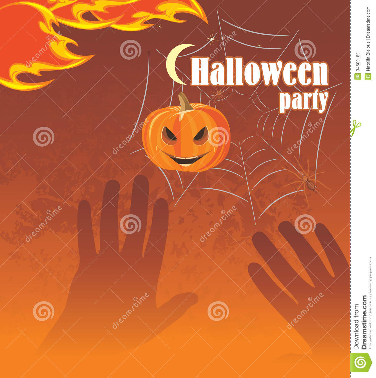 Halloween party. Abstract background