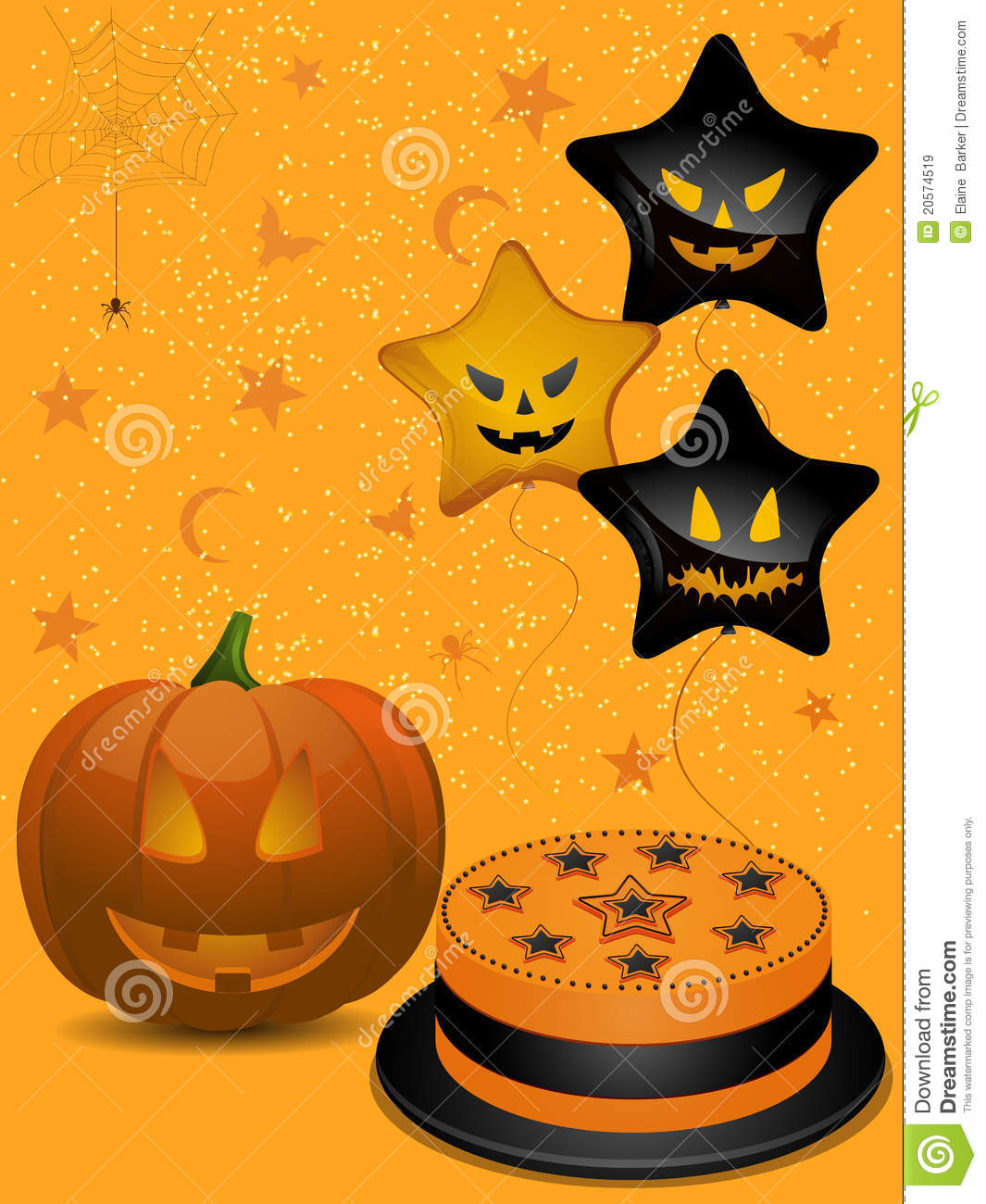 Halloween Party Background Royalty Free Stock Images - Image: 20574519