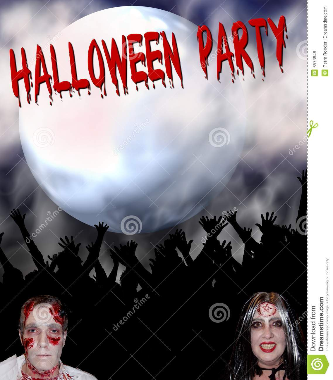 Halloween Party Background Royalty Free Stock Photos - Image: 6573848