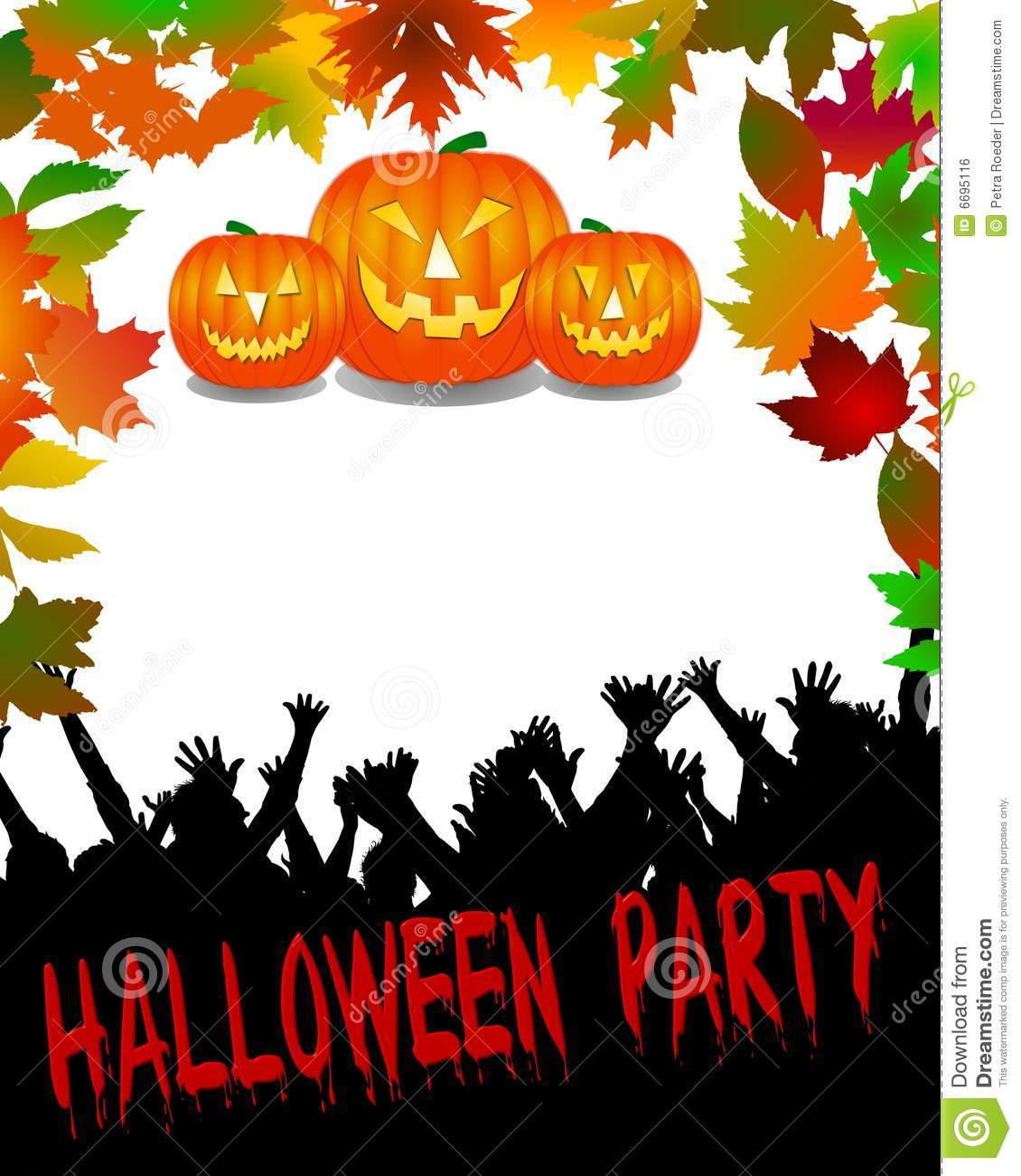 Halloween Party Background Royalty Free Stock Image - Image: 6695116
