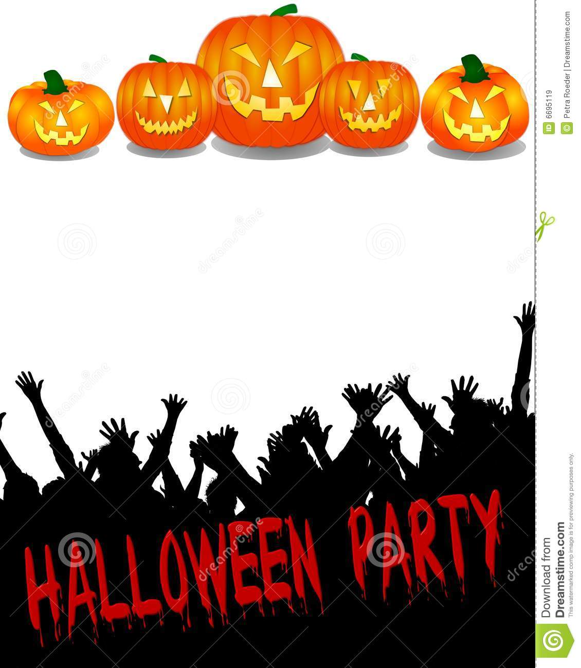Halloween Party Banner Royalty Free Stock Images - Image: 6695119