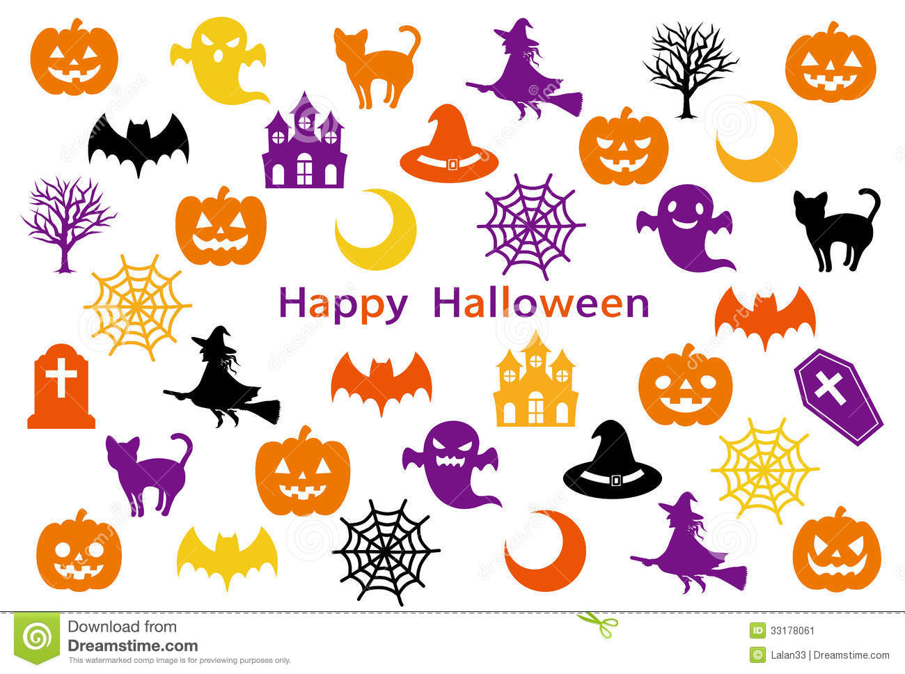 Halloween Party-card Stock Image - Image: 33178061