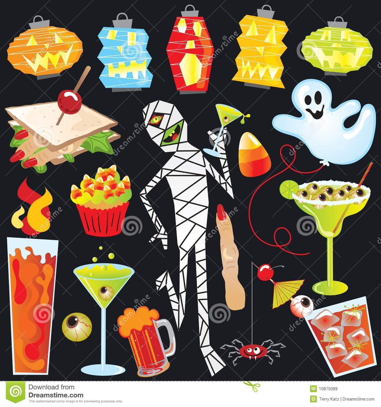 Halloween party clip art stock vector. Illustration of ...