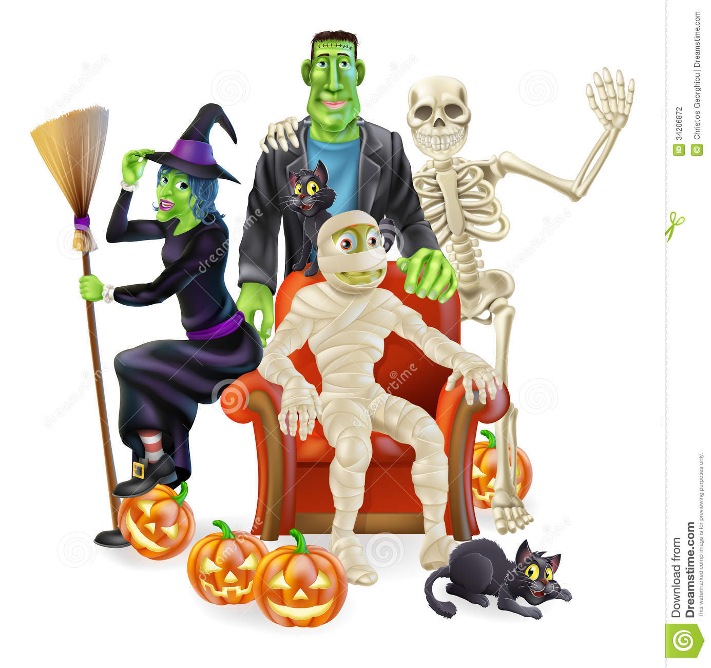 Halloween Party Group Stock Photography - Image: 34206872
