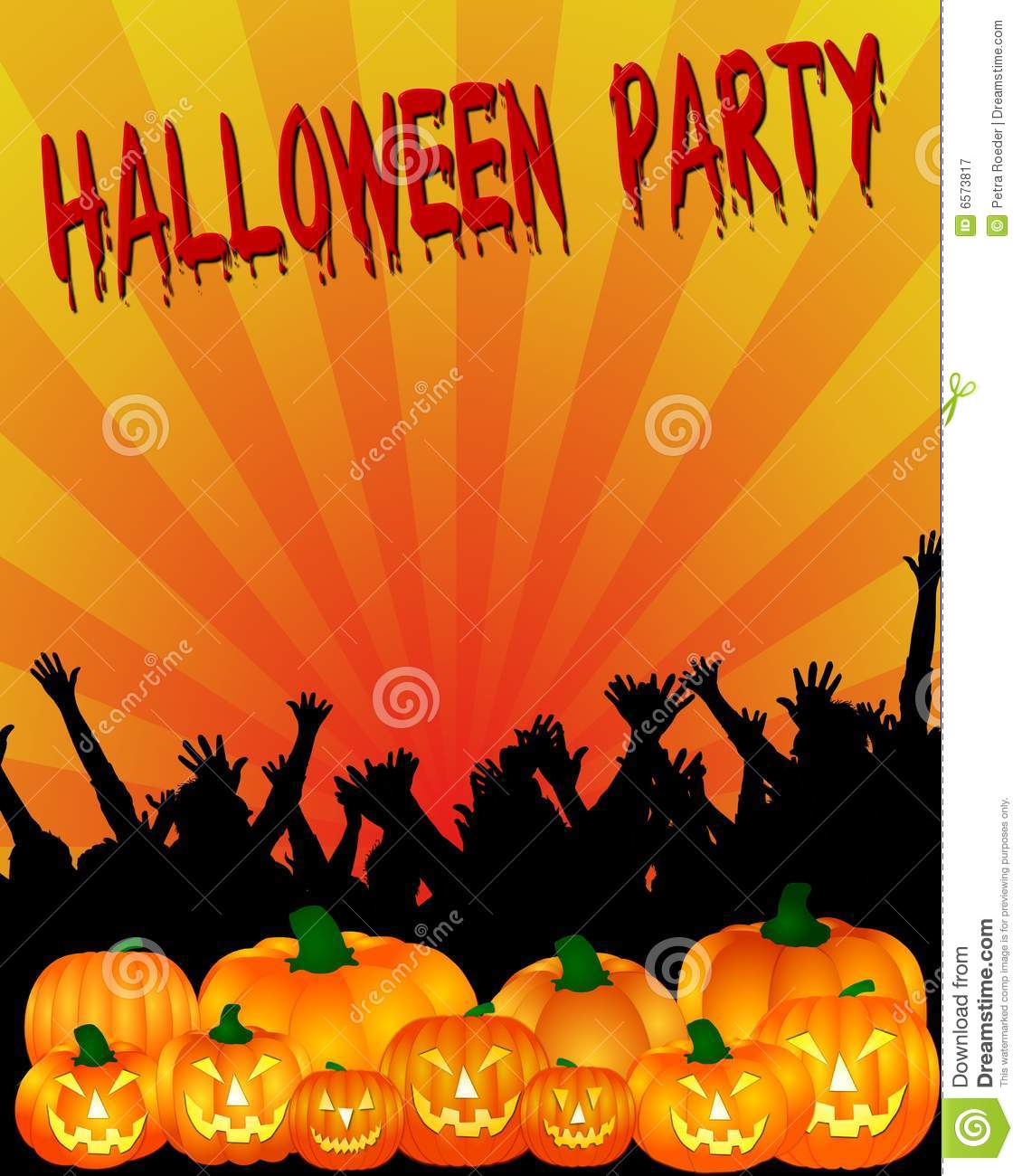 Halloween Party Invitation Royalty Free Stock Photography - Image ...