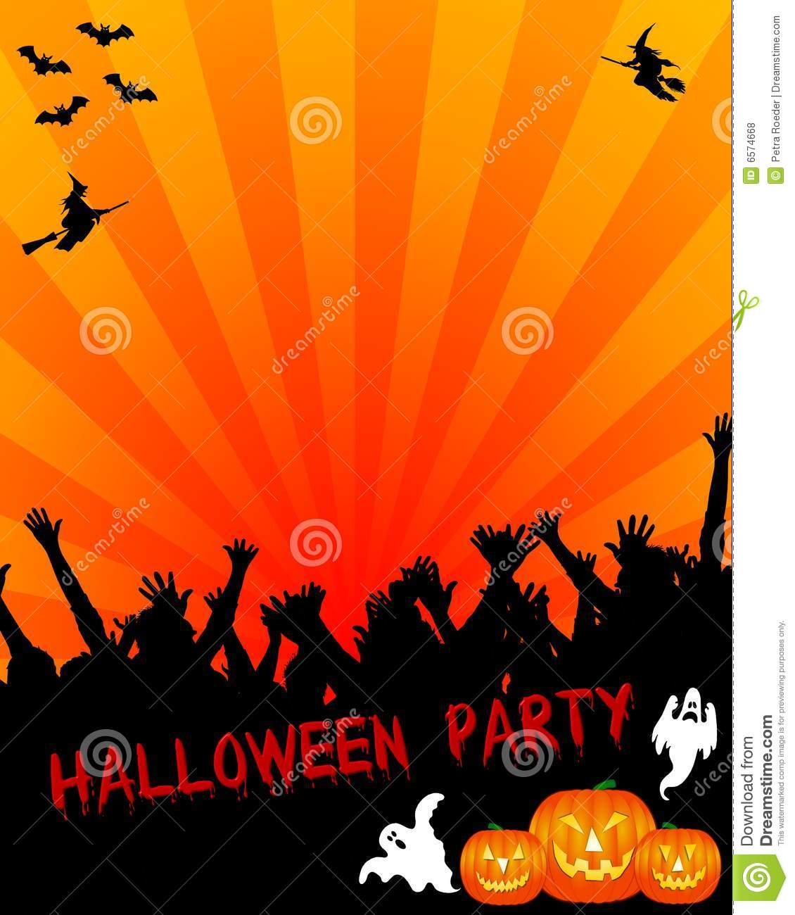 Halloween Party Invitation Stock Illustration Of