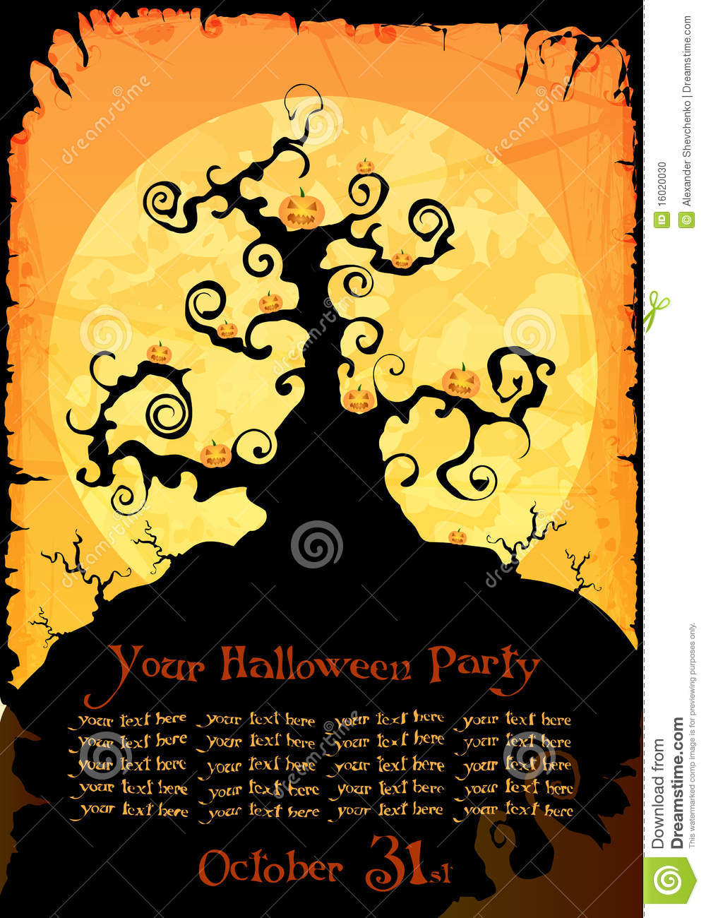 Halloween Party Invitation Or Background