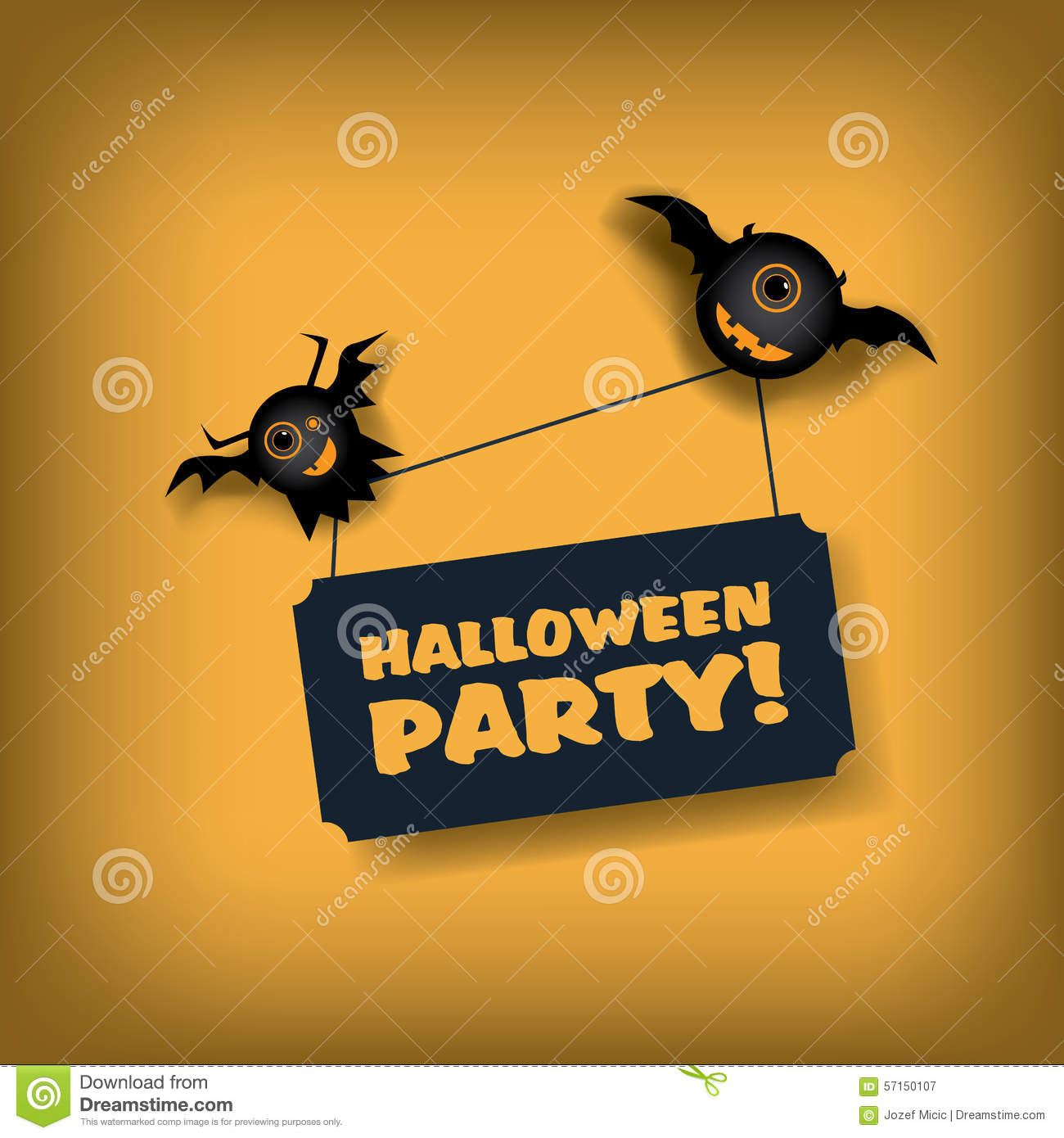 halloween party invitation template holiday stock vector