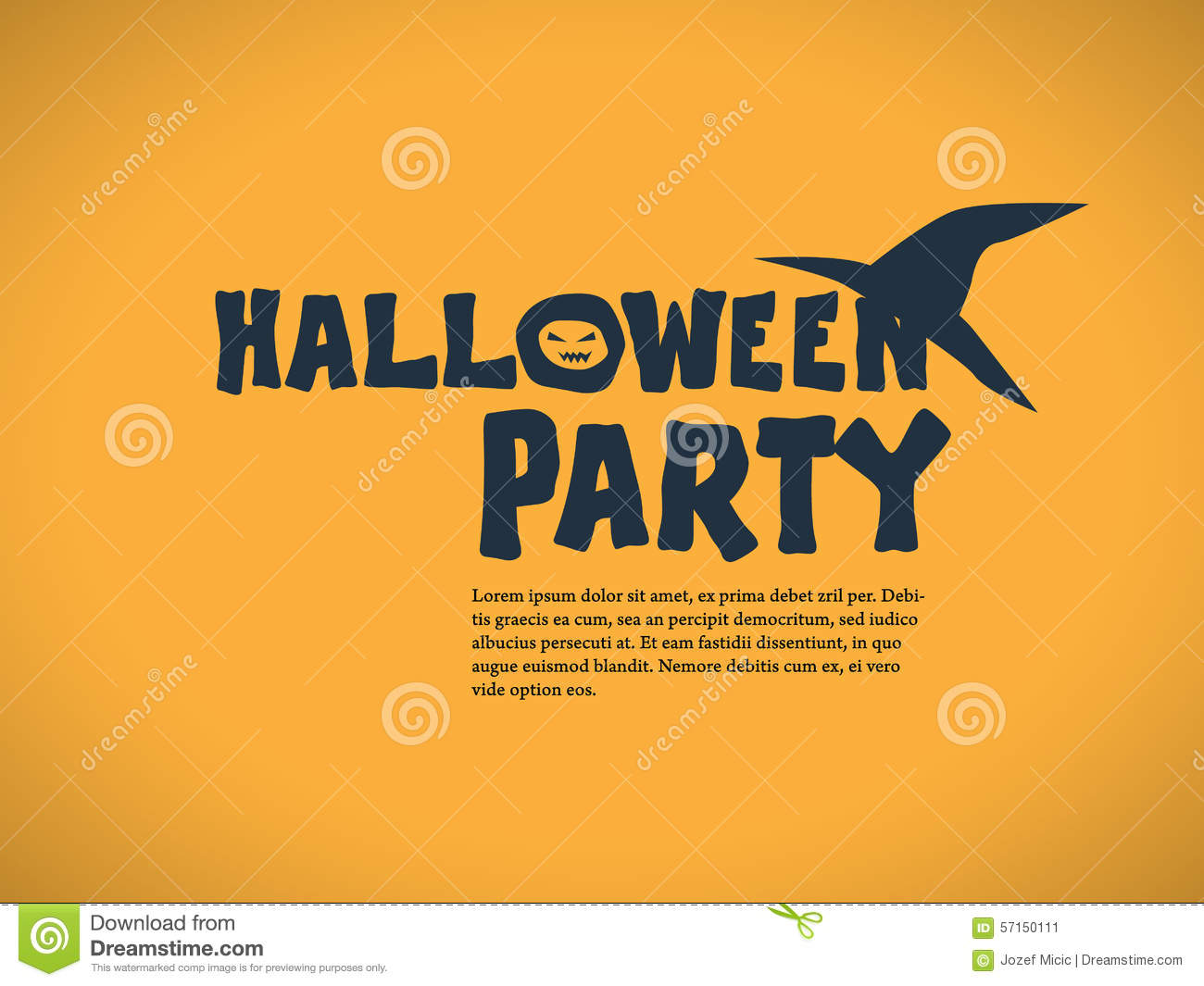 Halloween Party Invitation Template. Holiday Stock Vector - Image ...