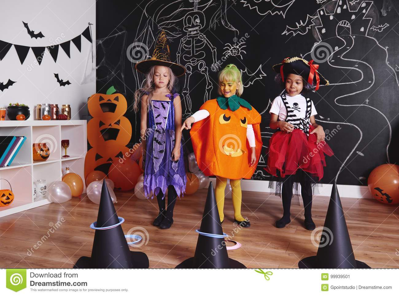 halloween party for kids stock image. image of siblings - 99939501