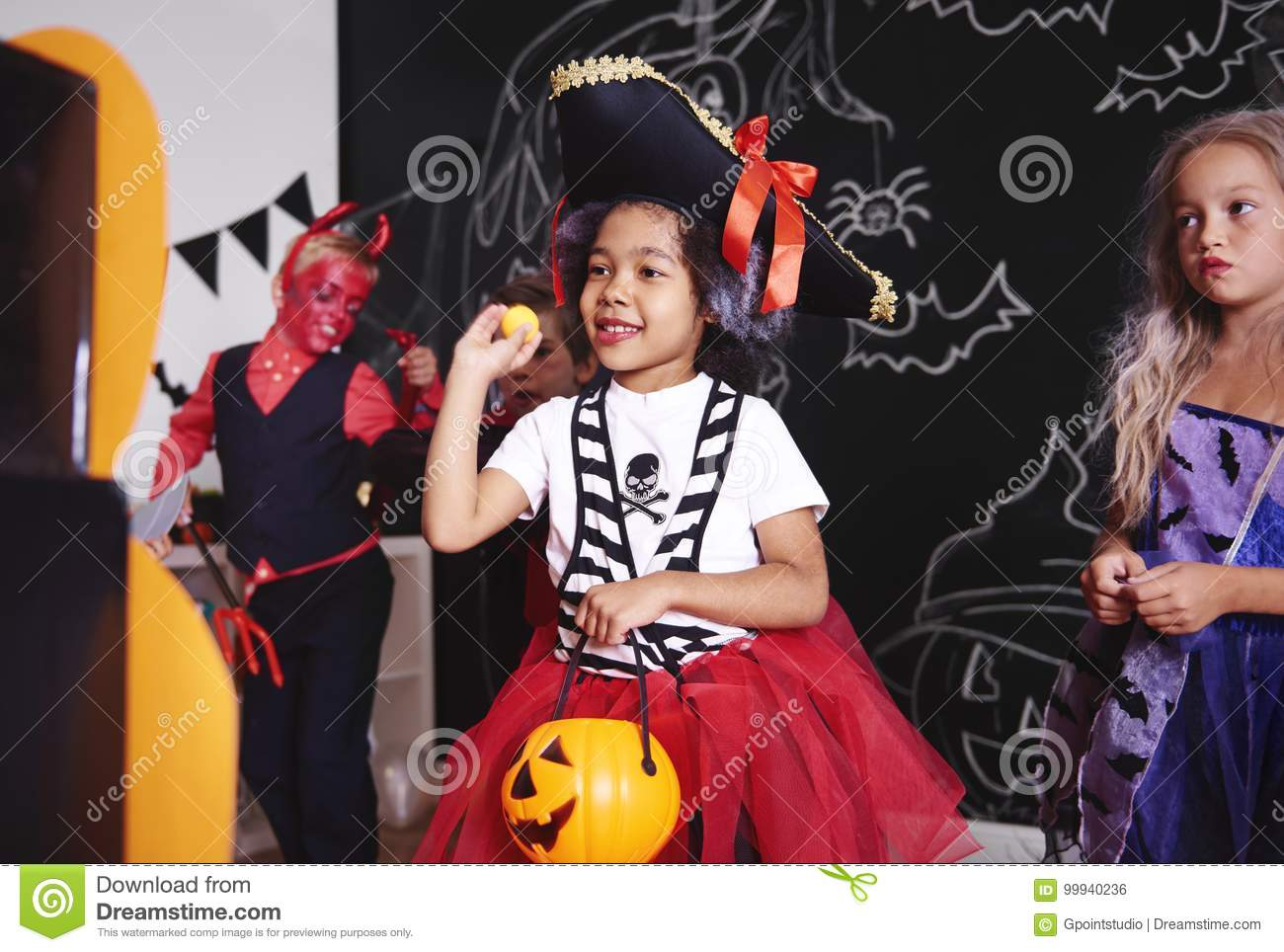 halloween party for kids stock photo. image of playtime - 99940236