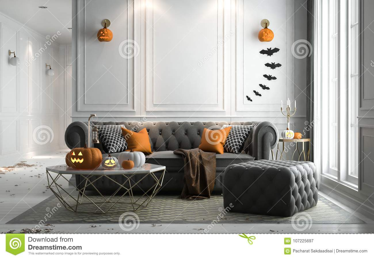 21 Stylish Living Room Halloween Decorations Ideas: Halloween Party In Living Room