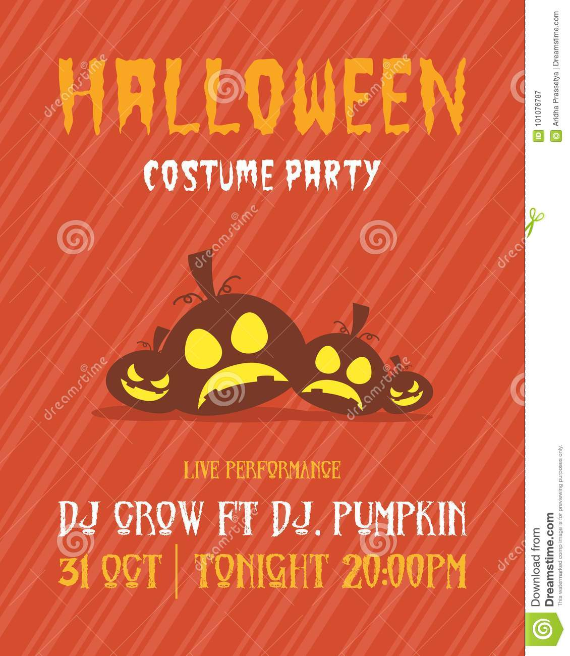 halloween party poster design collection stock vector - illustration