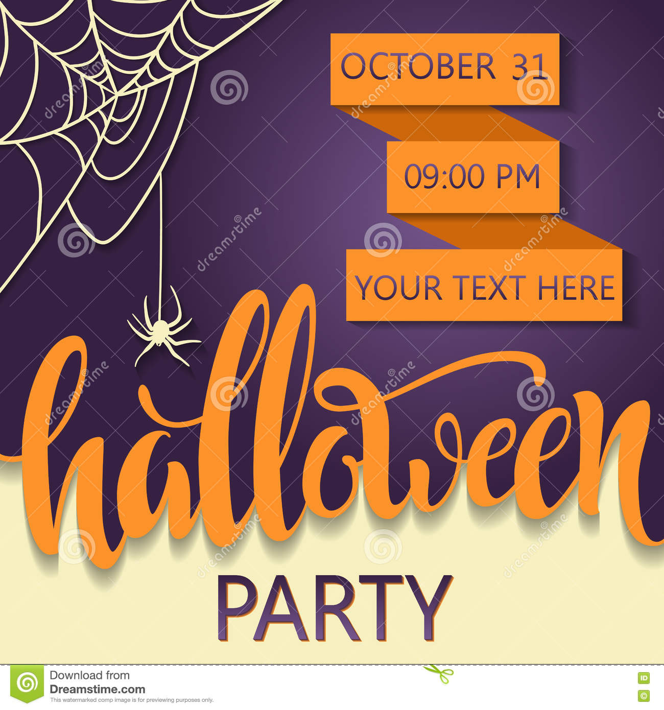 download halloween party poster placard for a party on all saints day lettering halloween
