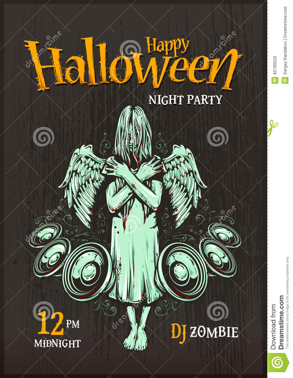 halloween party poster stock vector illustration of lettering