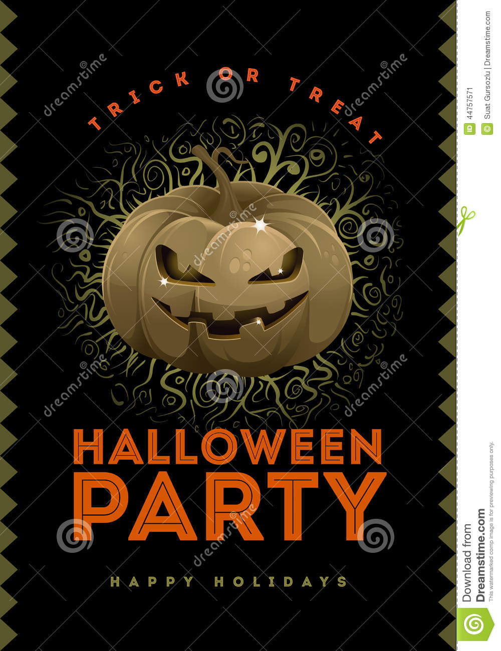 Halloween Party Poster Stock Vector - Image: 44757571