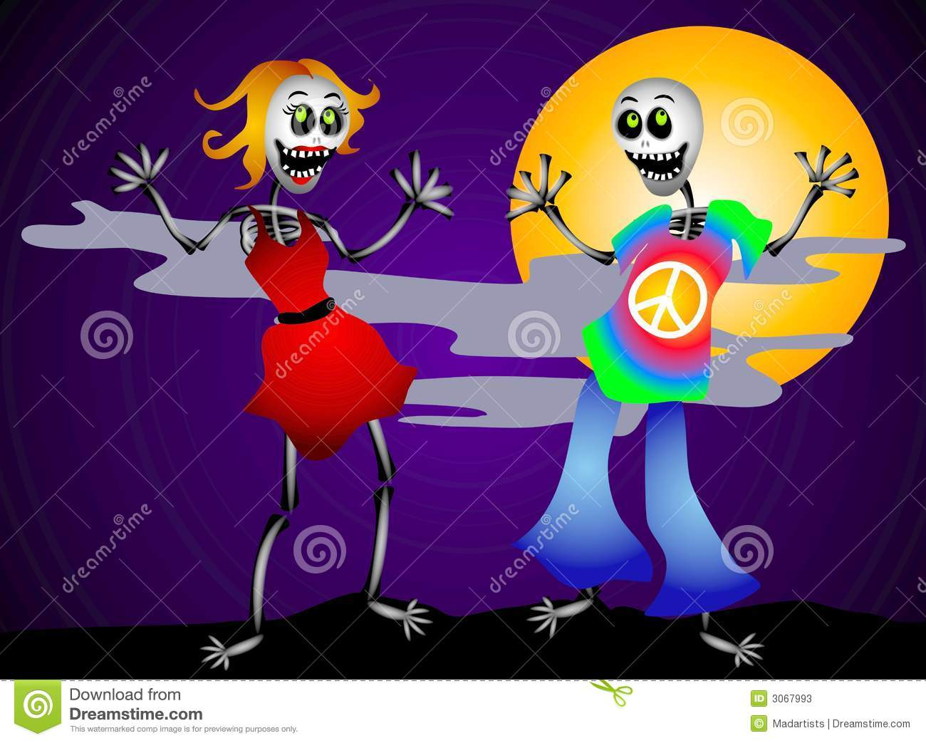 Halloween Party Skeletons 2 Stock Photos - Image: 3067993