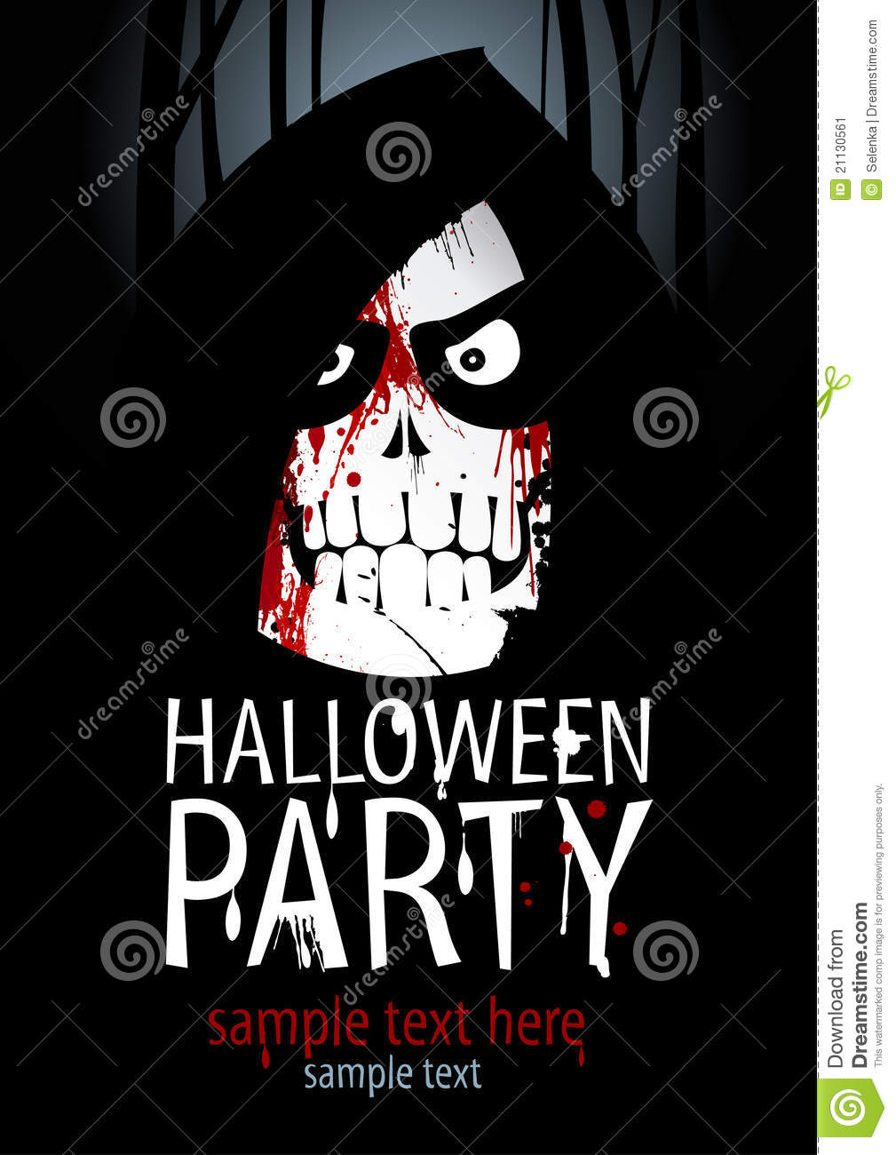 Halloween party template.
