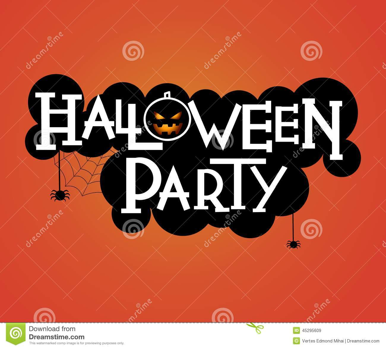 halloween party text design stock vector illustration of artistic