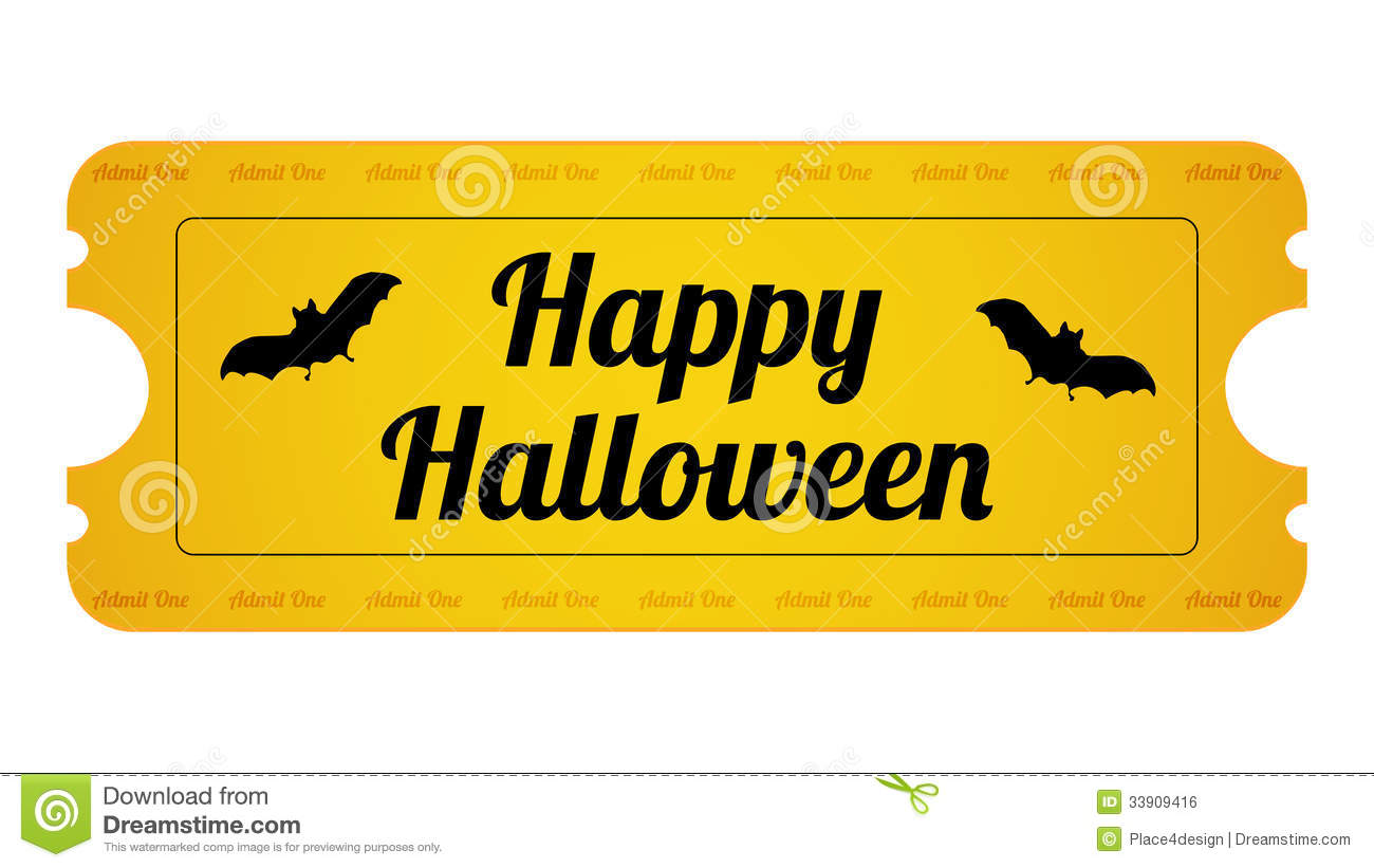 Halloween Party Ticket Royalty Free Stock Image Image