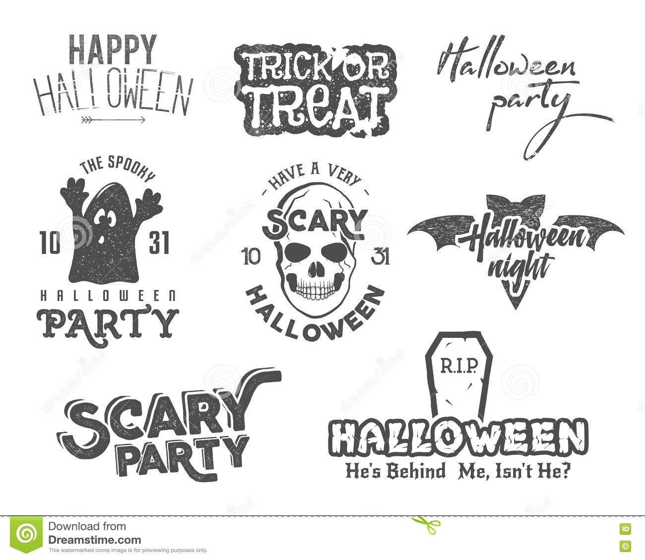 Halloween 2016 party vintage labels tee designs with scary halloween 2016 party vintage labels tee designs with scary symbols ghost bat skull and typography elements buycottarizona Image collections