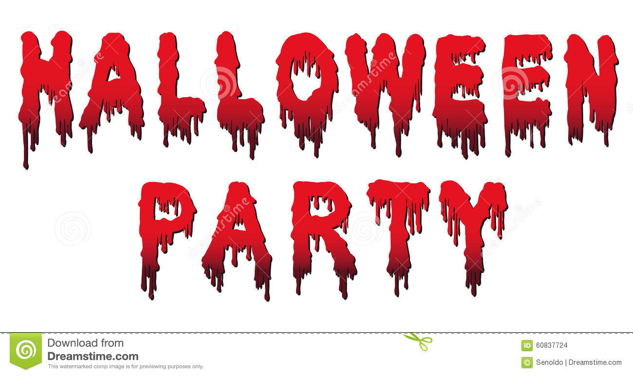 halloween party words written in blood stock images - Blood For Halloween